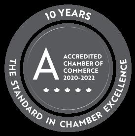 Nationally Accredited Chamber Logo Greyscale